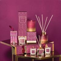 China Custom fragrant reed diffuser and wholesale luxury candle jar for gift set on sale