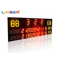 Outside UV Protection 12 / 20 Inch LED Electronic Baseball Scoreboard in Yellow Color Manufactures