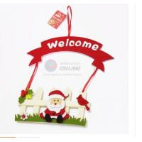 China High Quality Felt Welcome Sign Board for Christmas Decoration on sale