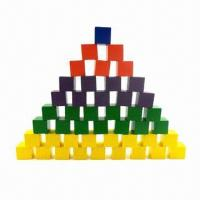 China 100pcs Colored Wooden Building Blocks, without Any Harmful Chemical, OEM Orders are Welcome on sale