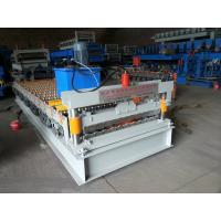 Colored Steel Plate Corrugated Roof Sheeting Machine Automatic Length Cutting Manufactures