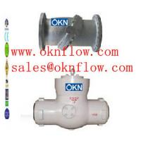 China 15 A217-C5/WC6/WC9 butt welded check valve/sales@oknflow.com on sale
