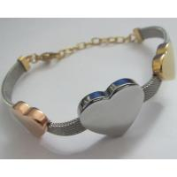 Popular Stainless Steel Bracelets Jewelry for Women with Heart Design Manufactures