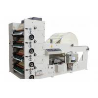Automatic High Speed 4 Color Flexo Printing Machine 50-60m/min Max width 850mm White Manufactures