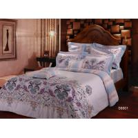 Hotel Sateen Cotton Bedding Sets Duvet Cover Sheet Sets Breathable Manufactures