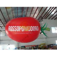 4m Long Plum Tomato Shaped Balloons For Haning / Pop Display / Event Show Manufactures
