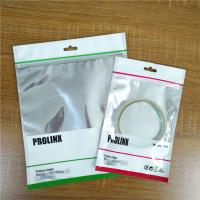 Ziplock USB Cable Plastic Pouches Packaging Resealable Mobile Phone Case Bags With Handle Manufactures