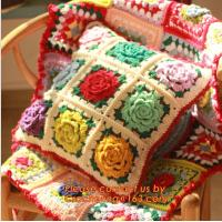 China new cotton crochet pillow cover cotton knitted pillow cover cushion towel for home decor on sale