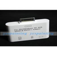 China Portable Lightweight  Video / Audio Transmits Adapter To HD TV / HDMI For IPhone 4GS on sale