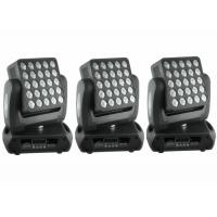 Top 1 Flat 25 x 12w High Lumen American CREE, RGBW Color Mixing  LED Moving Head Light / Square DJ Moving Head Lights Manufactures