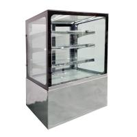 China Air Cooling Refrigerated Glass Display Case Cafe Cake Display Fridge CE on sale