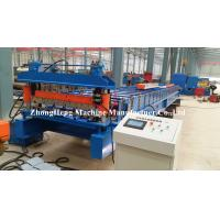 China Galvanized Metal Steel Roofing Sheet Roll Forming Machine Automatically Gl Coated on sale