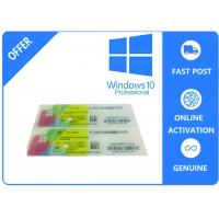1703 Version System Data Genuine Windows 10 Pro Oem / Coa Sticker /  Fpp Multilingual Version Manufactures