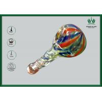 Round Bowl Glass Hand Pipe , Borosilicate Glass Hand Smoking Pipes GP-137 Manufactures