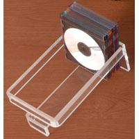 Acrylic CD Rack with transparent back-panel Manufactures