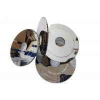 High Precision Cloth Cutting Blades / Rubber Cutting Saw Blade Erosion Resistant Manufactures