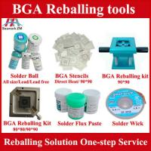 BGA reballing kit stencils BGA solder ball and Solder paste, One-step BGA reballing solution Manufactures