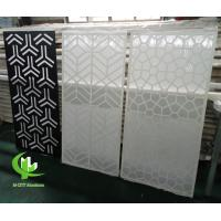 CNC aluminum carved decorative panel with various patterns laser cutting screen panel Manufactures