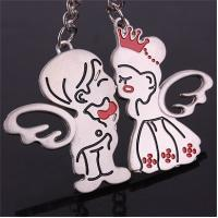 China Funny Metal Souvenir Custom Sheet Metal Personalized Couples Keychain Set With Logo on sale