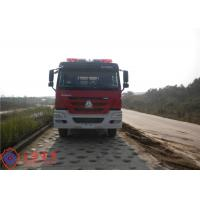 6x4 Drive Type Fire Fighting Truck Red Painting With 100W Alarm Control System Manufactures