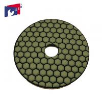 Normal Hexagonal Shape Concrete Polishing Pads Resin And Diamond Powder Material Manufactures
