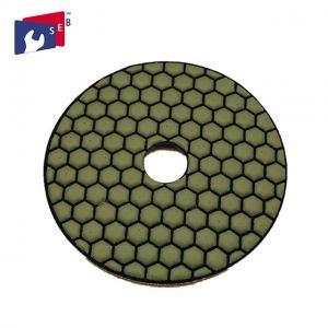 Normal Hexagonal Shape Concrete Polishing Pads Resin And Diamond Powder Material