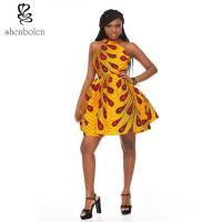 OEM Retro Inspired Style African Attire Dresses / 100% Cotton Wax Print Dresses Manufactures