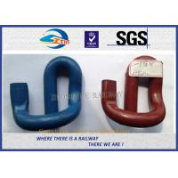 Corrosion Resistance 60Si2CrA E Shape Elastic Rail Clips / Rail Fast Clip Manufactures