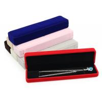 Logo Stamping Velvet Jewelry Gift Boxes Satin Compartment Jewelry Flocked Box Manufactures