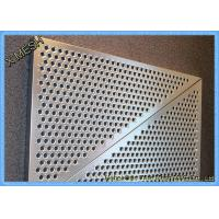 Anti Skid 6061 Aluminum Perforated Metal Sheet Mesh / Low carbon Punch Steel Plate With Holes Manufactures