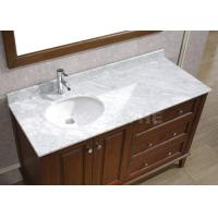 Galaxy White Bathroom Vanity Countertops With Sink  Marble Left Side Sink Vanity Top Manufactures
