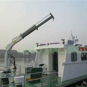 Yacht Deck Pedestal 0.35t 3.5m Telescopic Boom Crane Manufactures