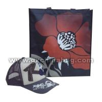 GX2012043 Shopping Bag 4 sides big flower $ text logo printing with glossy lamination Manufactures