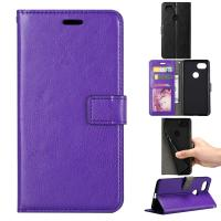 Quality Google Pixel2 Crazy Horse Cell Phone Leather Wallet Case Three Card Slot Tpu for sale