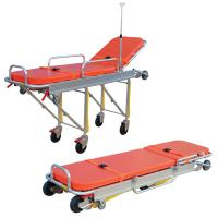 Anti Corrosion Patient Transport Stretchers , Collapsible Ambulance Trolley Manufactures