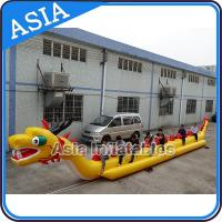 Yellow Dragon Banana Shaped Inflatable Boats 12 Person Water Sport Games For Adult Manufactures