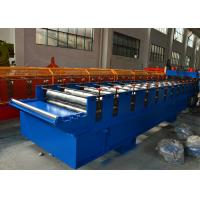 7.5Kw Main motor power Roof Tile Roll Forming Machine with 12-15m/min Manufactures