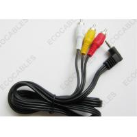 White Yellow Red Audio Wiring Harness Right Angle Stereo to RCA Cable Manufactures