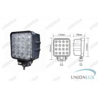 3120lum 48w Led Off Road Lights, 6000k 12v Led Work Lights For Trucks, Tractors Manufactures
