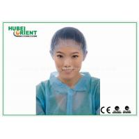 China Black / White Medical Disposable Head Cap / Disposable Hair Nets , Nylon Material on sale