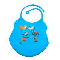 Custom Printing Best Fancy Fold-able Collapsible Comfort Waterproof Easily Wipes Clean Baby Silicone Bib with Pocket Manufactures