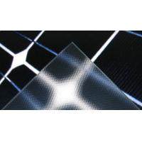Clear Textured Solar Panel Glass Heat Reflective , Low Iron , Light Transmittance 91% Manufactures