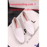 China New arrival Fashion Lady's P-rada real leather shoe,Hotest women designer shoes with rivet on sale