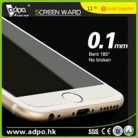China Wholesale 0.1mm 180° Bent Tempered Glass Screen Protector for Mobile Phone on sale