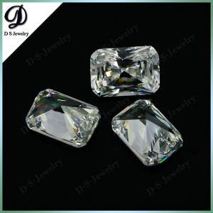 China Wholesale Rectangle Laser Cut Cubic Zirconia White CZ Gemstone on sale