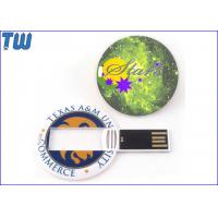 Quality Mini Round Medal Card 64GB Pen Drive Stick Full Color Custom Printing for sale
