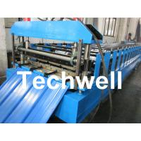 Quality Color Steel Trapezoidal Panel Profile Roll Forming Machine With Panasonic PLC for sale