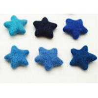 China 81 Color Soft Wool Felt Balls Cute Star Pattern With Needling / Screen Printing Logo on sale