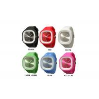 Square Jelly Rubber Silicone Wristband Watch White / Black For Ladies Personalised Manufactures