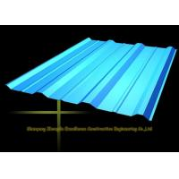 Long Span Color Coated Metal Corrugated Roofing Sheets / PPGI Roof Steel Panels Manufactures